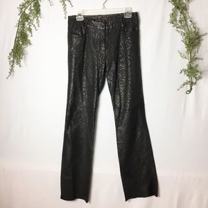 [Express] Real Leather Floral Embossed Pants 5/6